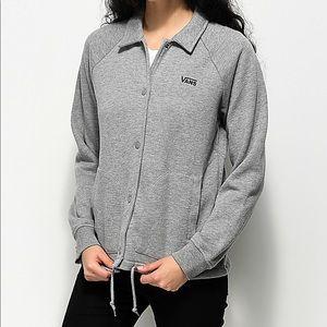 VANS Thanks Coaches Fleece Jacket In Heather Grey